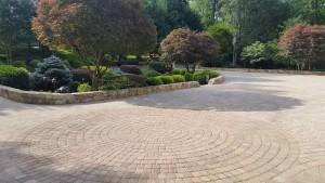 patterned stone path