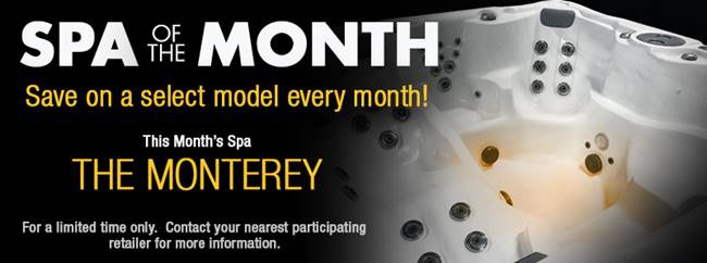 Spa of the Month Promo for September - The Monterey