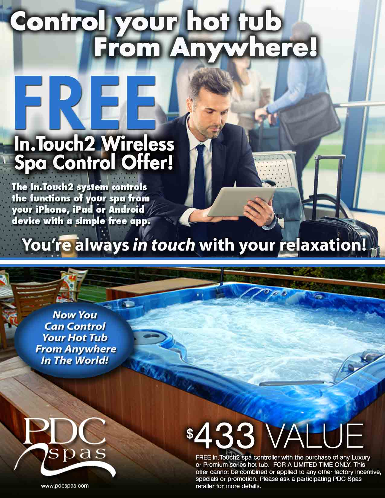 Free In.Touch 2 wireless spa control offer